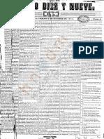 Periódico Siglo Diez y Nueve