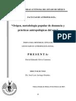 Origen Metodología Popular de Denuncia y Prácticas Antropológicas Del Sur.