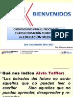 El Proceso de Transformación Curricular en Educación Media