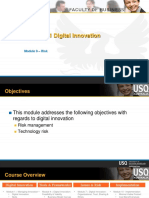 CIS 8011 Module 9 Digital Innovation Technology Risk