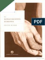 El Renacimiento Europeo, Peter Burke
