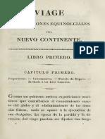 Viaje a Las Regiones Equinocciales Del Nuevo Continente Tomo 1 Libro Primero