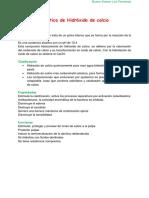 Hidróxido de Calcio CA(Oh)2