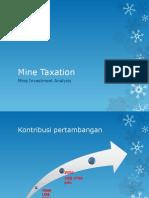 Mine Taxation
