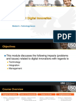 CIS 8011 Module 8 Digital Innovation Issues Technology Issues