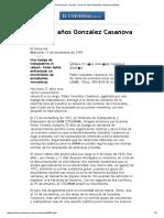 El Universal - Nación - Hace 27 Años González Casanova Dimitía