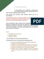 Elaboración de Manuales de Procedimientos