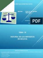Derecho Tributario 1 Historia en Bolivia
