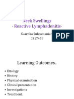 Neck Swellings- Reactive Lymphadenitis
