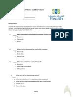 Patient Safety Initiatives Quiz