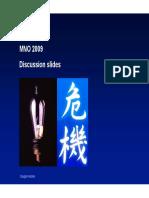MNO2009 Discussion Slides Oct 2017