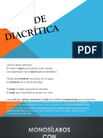 3.- La Tilde Diacrítica