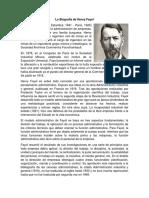 La Biografía de Henry Fayol