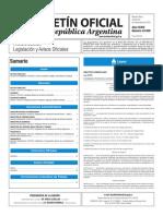 Boletin Oficial Promulgacion Ley 27319 Dto 1184-2016
