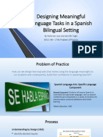 educ 546 - designing meaningful language tasks in a spanish bilingual
