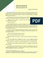 Diálogo Intempestivo III, Arretos Koura. Escrito por Sophia de la Zerda Bessé.