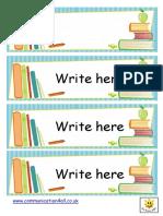 Book Design Label Template