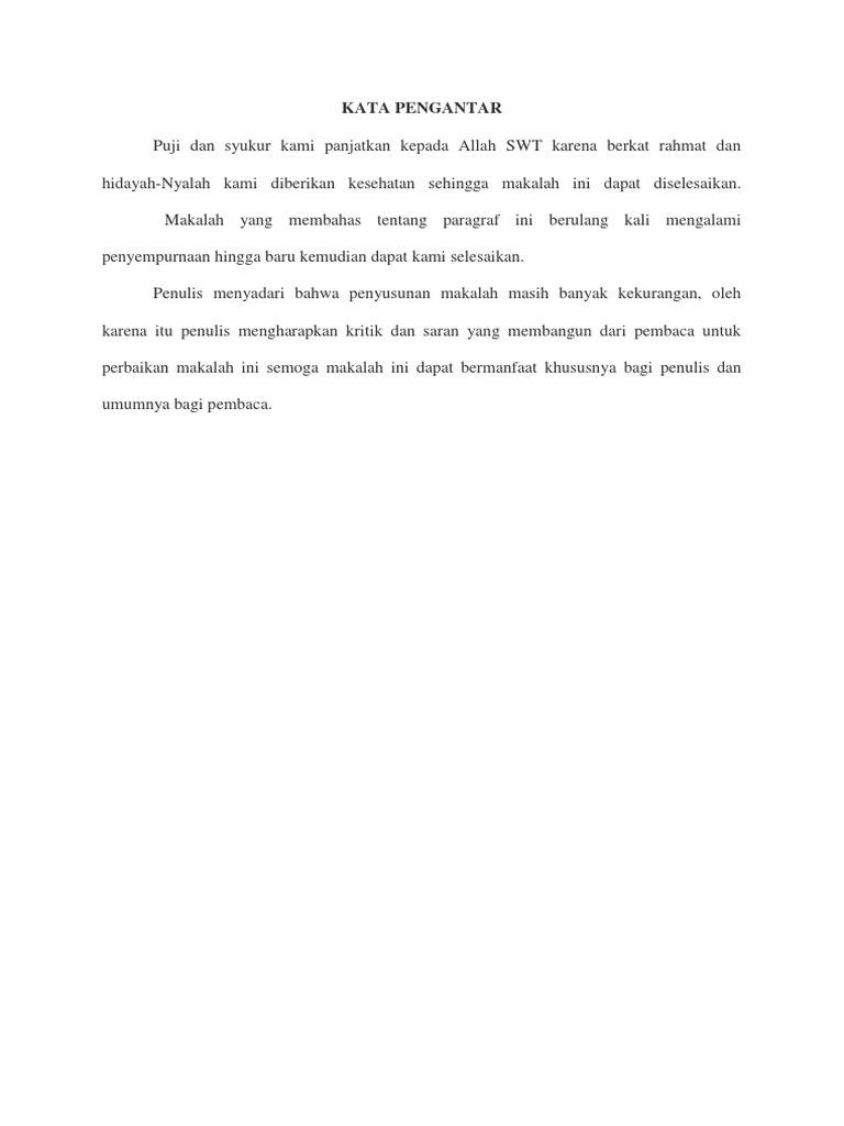 Contoh Makalah Bahasa Indonesia Tentang Paragraf Docx