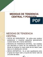 Medidas de Tendencia Central y de Posicion 2018