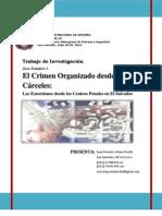 El Crimen Organizado desde las Cárceles Las Extorsiones desde los Centros Penales en El Salvador