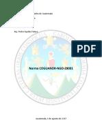 Norma COGUANOR NGO-29001 Definiciones y Conceptos
