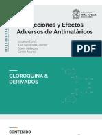 Interacciones y Efectos Adversos de Antimaláricos