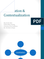 Localization and Contextualization