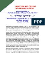 The Symbolism and Design of Masonic Apron