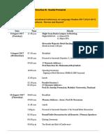 Programme Itinerary for Prof Emeritus Dr Suwilai