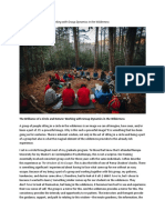 Group Psychotherapy and Working With Group Dynamics in the Wilderness