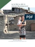 How to Get a Job in International Development