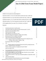 Chemistry Model Paper Term 2