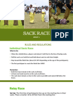 Sack Race Report