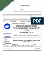 SEP 01 ZAA 1DC 002 Method Statement for Block Work 1