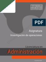 Investigacion de Operaciones ME
