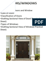Lecture -3 - Doors and Window
