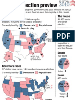 Map of Key Midterm Elections