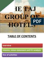 The Taj Group of Hotels.