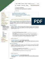 Indicadores e Índices de La Producción Científica