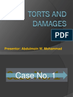 Torts CASES Presentation