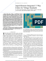 Broadband Lumped-element Integrated -Way Power Dividers for Voltage Standards