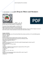Calculate Pressure Drop in Filters and Strainers - Separation Technologies