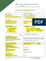 CRW16 - Interview Form