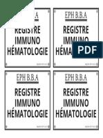 Etiquette-registre Immune Hematologie