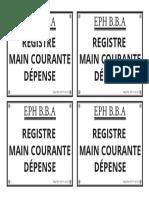 Etiquette-registre Main Courante Dépense