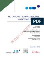 France_Stratégie_rapport. Mutations technologiques, mutations sociales