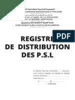 Page de Garde-registre de Distribution Des Psl