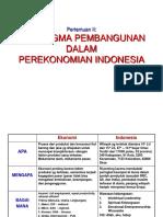 Bab 01 Paradigm Pembangunan Dalam Perekonomian Indonesia (1)