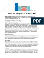 Vocabulary Recycling Activities