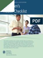 Mens Health Checklist